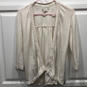 Kate Spade Open Cardigan Cotton and Cashmere